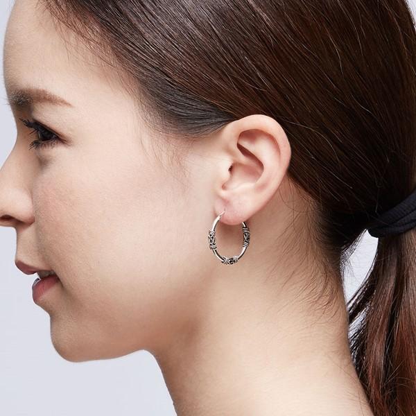 極個性掐絲麻花硫化一對販售 純銀 女款耳環飾品