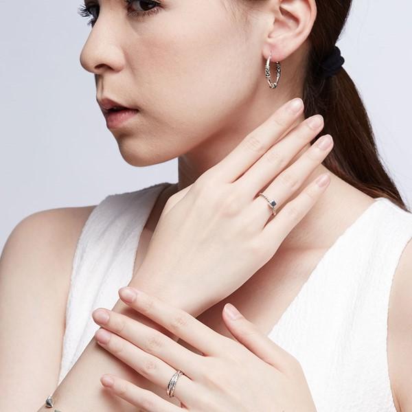極個性掐絲麻花硫化耳環/一對販售