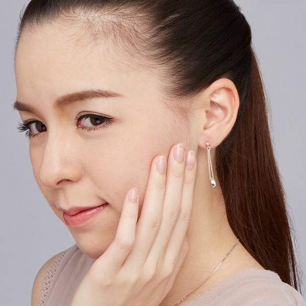 水之結晶體造型耳環/一對販售