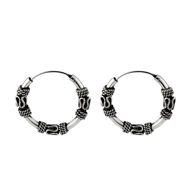個性掐絲麻花硫化耳環/一對販售