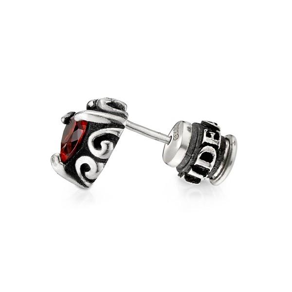 愛心鋯石單隻販售 純銀 男款耳環飾品