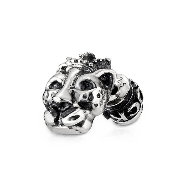 豹王造型單隻販售 純銀 男款耳環飾品