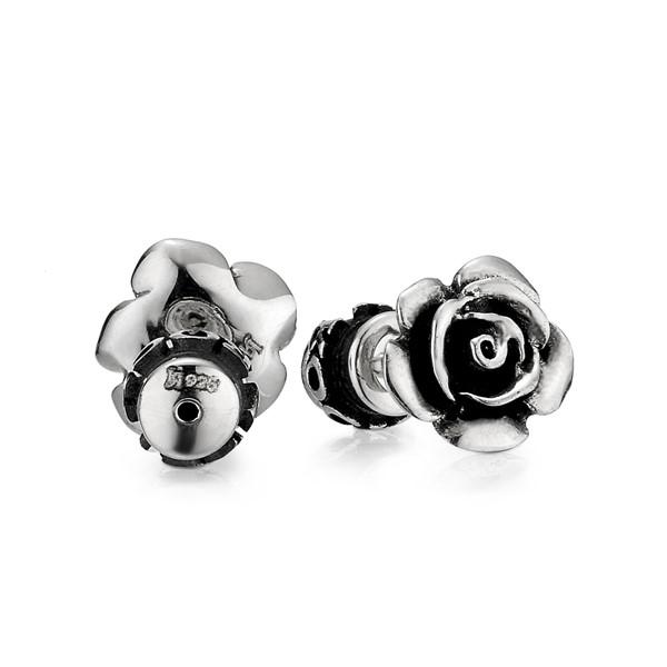 玫瑰造型單隻販售 純銀 男款耳環飾品