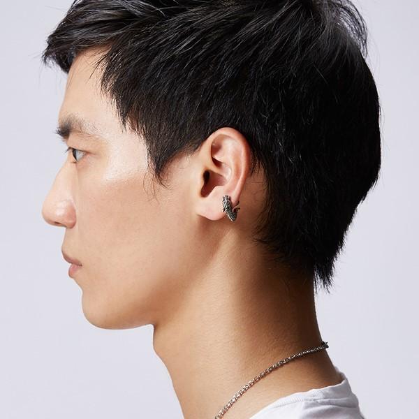 銀龍造型單隻販售 純銀 男款耳環飾品