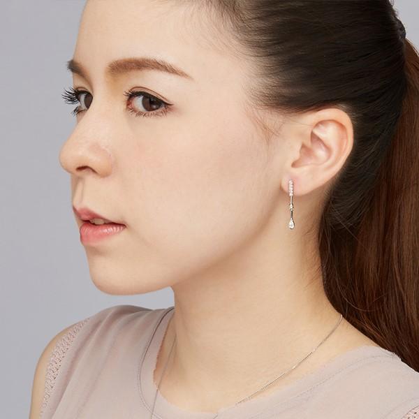 聆聽垂鑽設計 純銀 女款耳環飾品