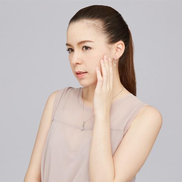 聆聽垂鑽設計耳環/一對販售