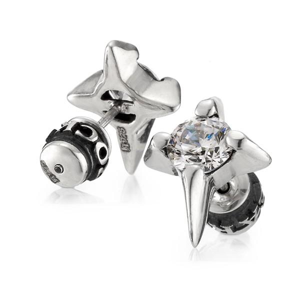 四芒星造型耳環/單隻販售