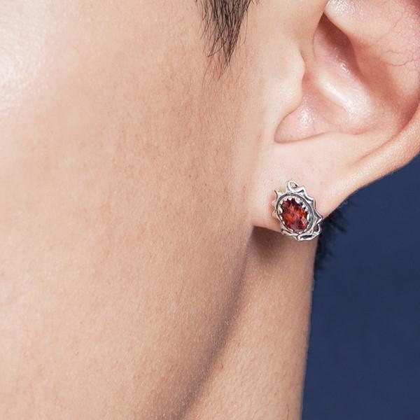 單鑽花漾耳環/單隻販售