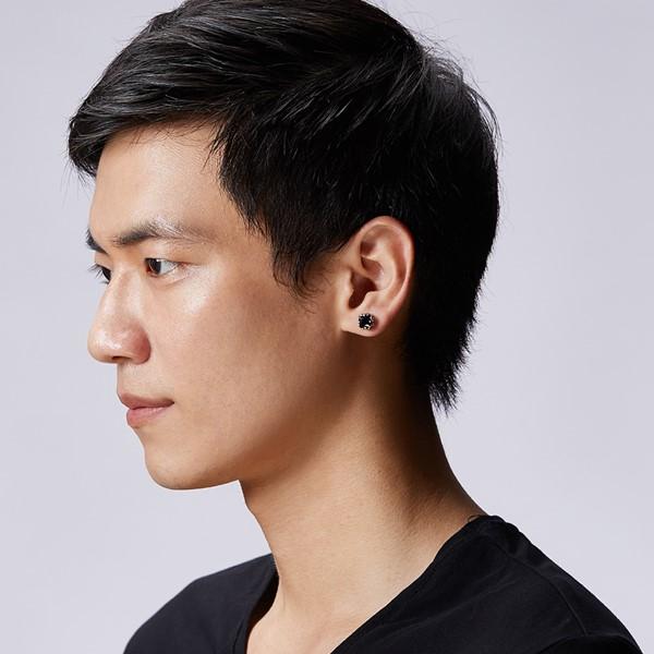 個性方爪單隻販售 純銀 男款耳環飾品