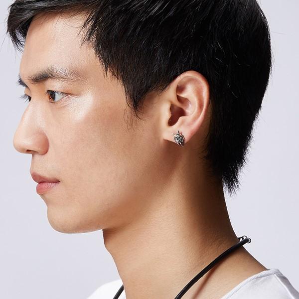 極道鬼頭單隻販售 純銀 男款耳環飾品
