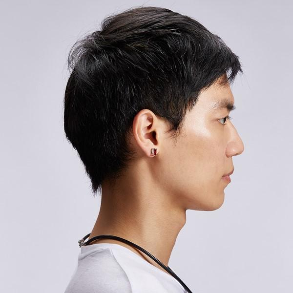大氣方鑽耳環/單隻販售