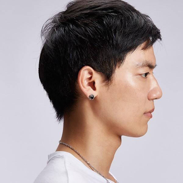 酷炫單隻販售 純銀 男款耳環飾品