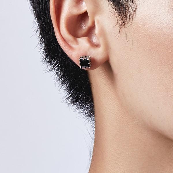 方鋯造型耳環/單隻販售