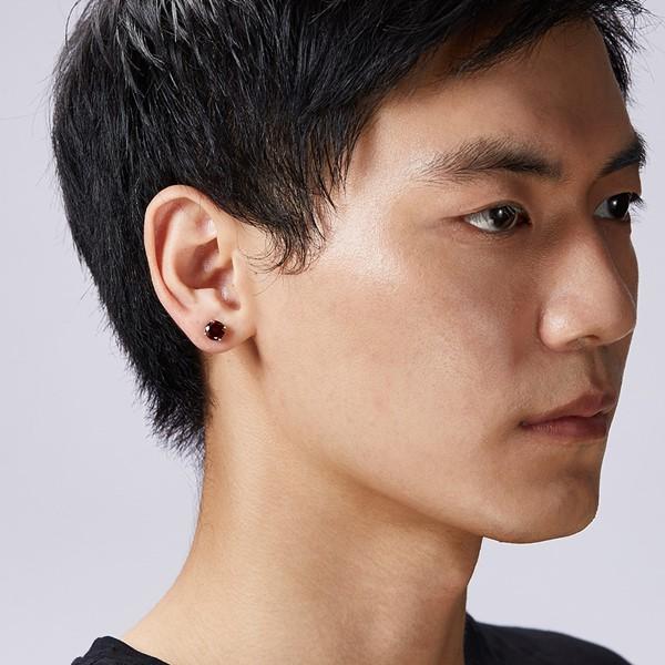 圓鑽經典單隻販售 純銀 男款耳環飾品
