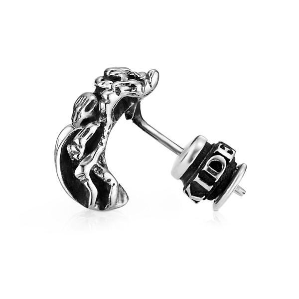 變形蟲單隻販售 純銀 男款耳環飾品