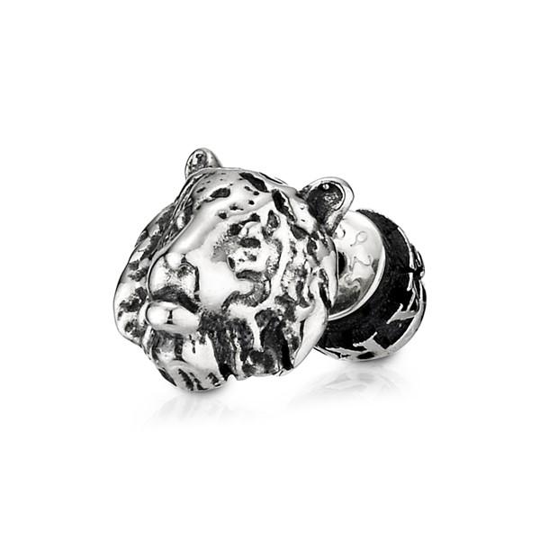 率性大熊單隻販售 純銀 男款耳環飾品