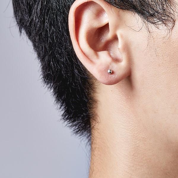 圓珠簡約耳環 | 0.3cm/一對販售