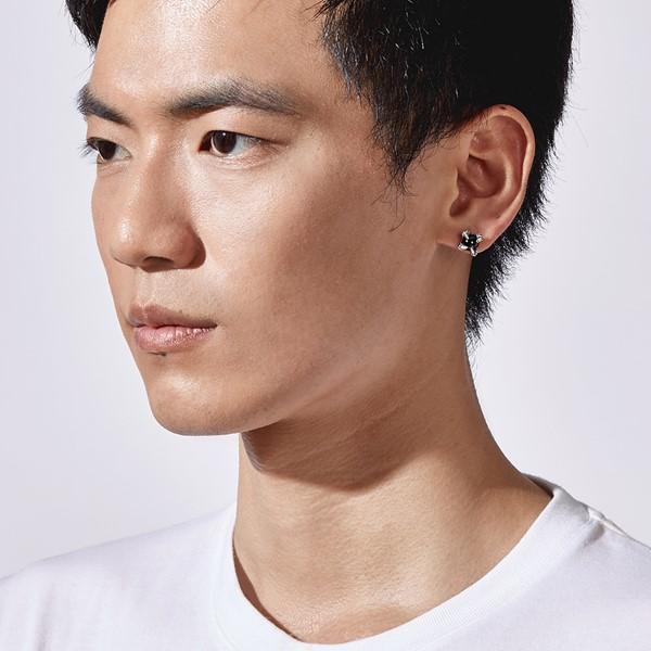 野獸派個性單隻販售 純銀 男款耳環飾品