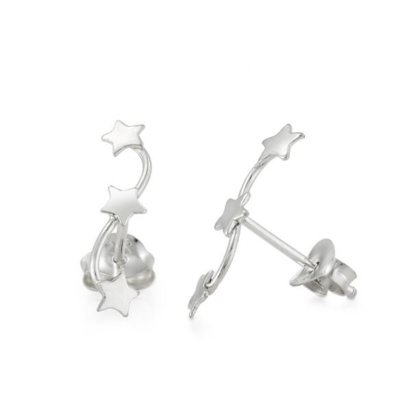 流星雨的傳說 純銀 女款耳環飾品