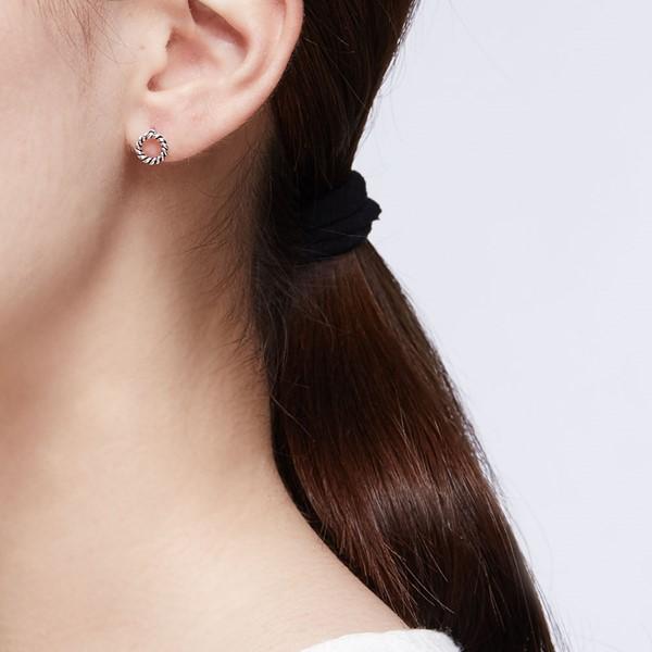 經典扭轉硫化耳環/一對販售