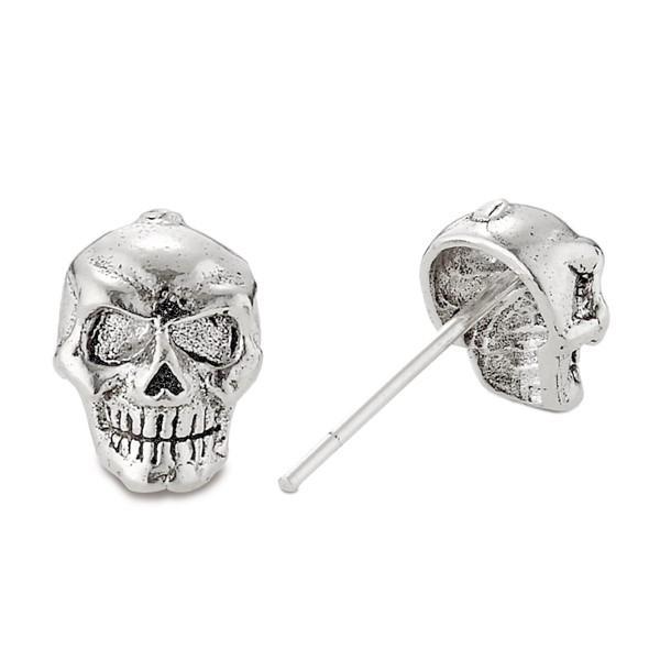 個性骷顱頭造型單隻販售 純銀 男款耳環飾品