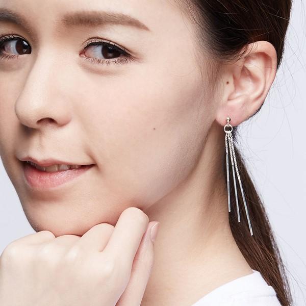 優雅型態垂墜造型耳環/一對販售