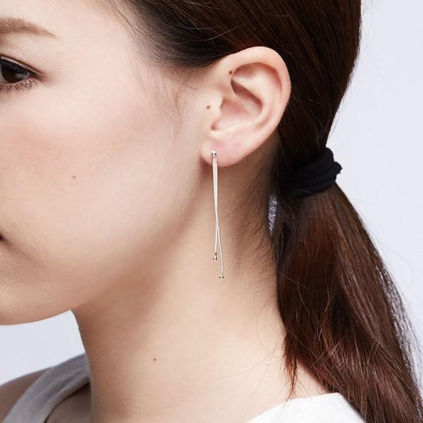 滑落的淚珠造型耳環/一對販售