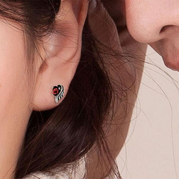 呵護羽翼單鑽耳環/單隻販售