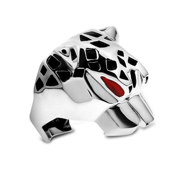 銀色風豹戒指
