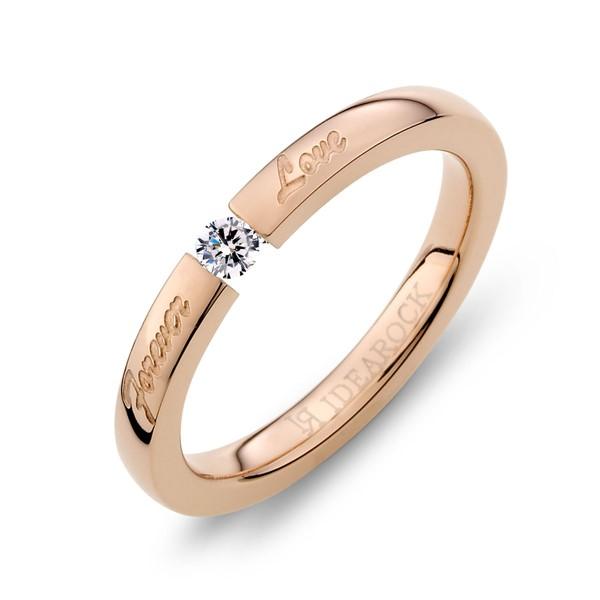 美鑽甜言蜜語ForeverLove 西德鋼 女款戒指飾品