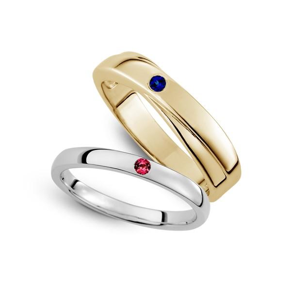 幸福時光 寶石 結婚對戒