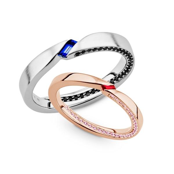 愛情永固含蓄 純銀寶石 結婚對戒