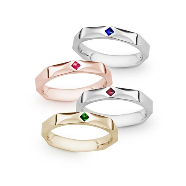 愛的練習題 純銀/寶石 男款結婚對戒