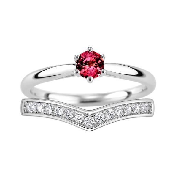 最美的時刻 寶石結婚套戒(三件組)