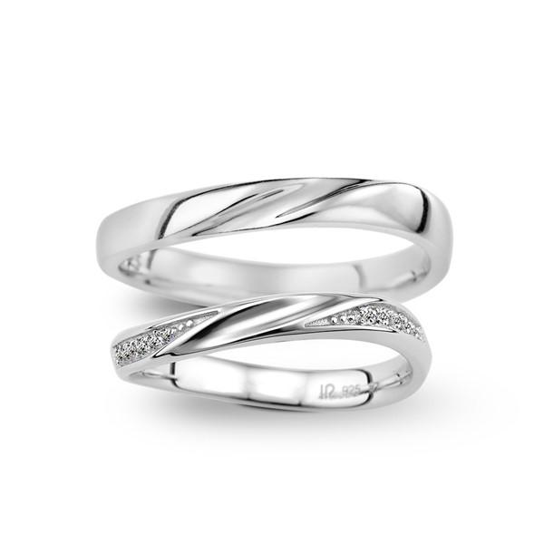 幸福樂章 寶石結婚套戒(三件組)