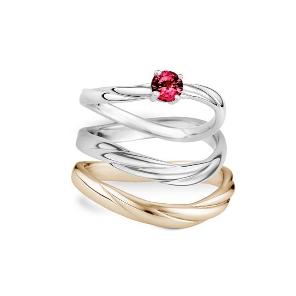 愛在指間 寶石結婚套戒(三件組)