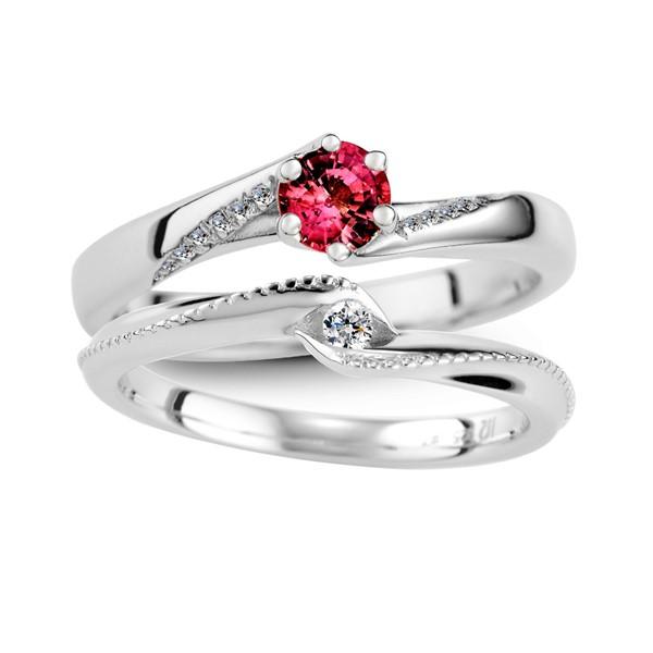 守護愛情 寶石結婚套戒(三件組)