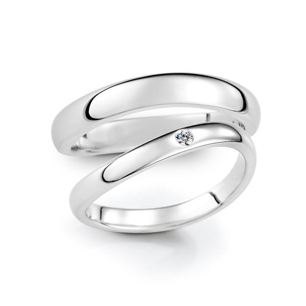 遇見愛 寶石結婚對戒(三件組)
