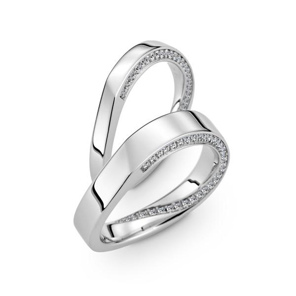 含蓄愛不止息 寶石結婚對戒(三件組)