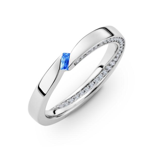 愛情永固 含蓄純銀/寶石 女款結婚對戒