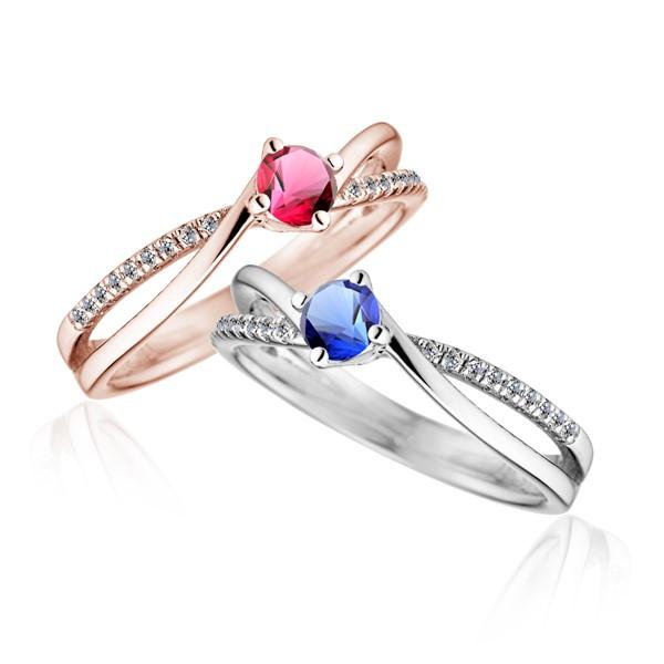 閃耀流星 純銀 30分寶石戒指