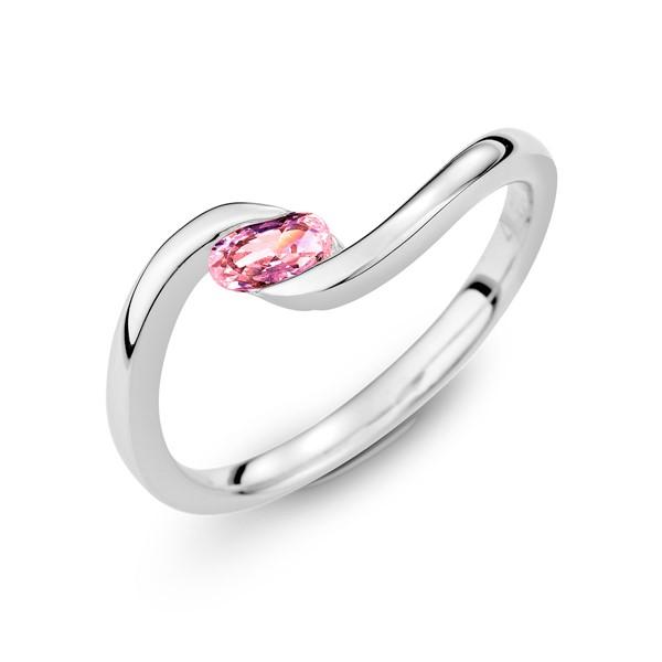時光流淌 純銀  3*5mm橢圓寶石戒指