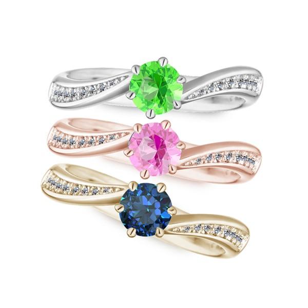 心心相印 純銀 50分寶石戒指