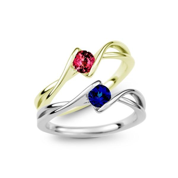 蔓延的愛 純銀 30分寶石戒指