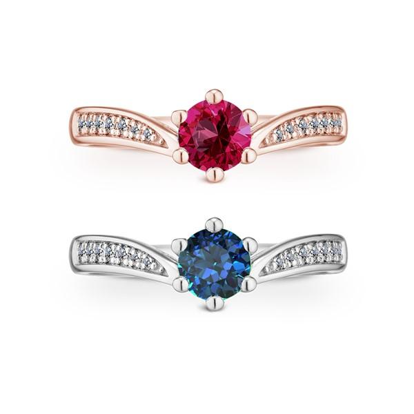 浪漫星空 純銀 50分寶石戒指