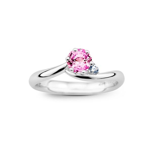 幸福星光 純銀 50分寶石戒指