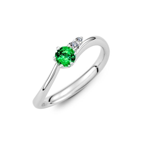真情相伴 純銀 30分寶石戒指