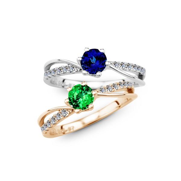 絕美設計璀鑽 純銀 50分寶石戒指