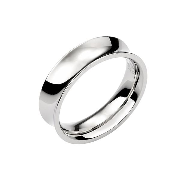 獨特凹面造形 西德鋼 女款戒指飾品