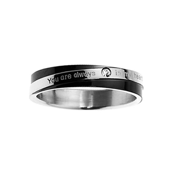 黑白時尚完美戒指 西德鋼 女款戒指飾品